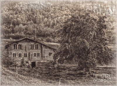 Old And Abandoned - Sepia Print by Hanny Heim