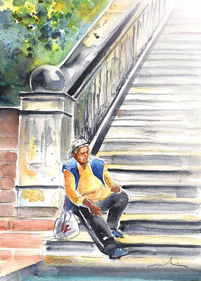 Praha Drawing - Old And Lonely In Prague 02 by Miki De Goodaboom