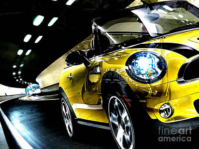 Old And New Mini Cooper Print by Marvin Blaine