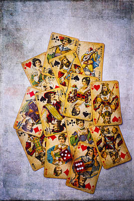 Joker Photograph - Old Antique Playing Cards by Garry Gay