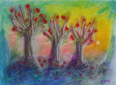 Old Apple Orchard Print by Donna Blackhall