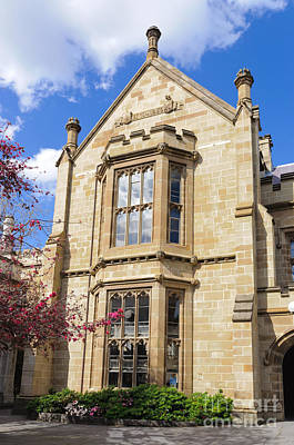 Old Arts Building - Melbourne University - Australia - Academic Tudor - Jacobethan Style Building Print by David Hill