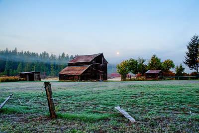Old Barn - Ronald - Washington - October 2013 Print by Steve G Bisig