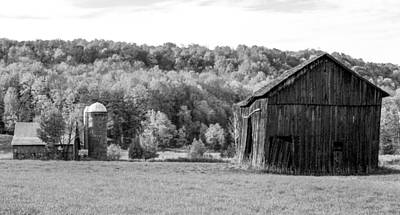 Old Barn And Silo Print by Optical Playground By MP Ray