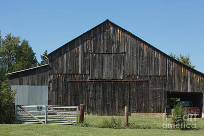 Old Barn And Truck Print by Kay Pickens