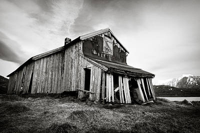 Lofoten Photograph - Old Barn by Dave Bowman