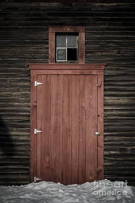 Latch Photograph - Old Barn Door by Edward Fielding