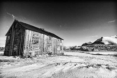 Lofoten Photograph - Old Barn Fredvang by Janet Burdon