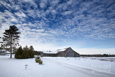 Quebec Houses Photograph - Old Barn In Beauce by Jane Rix