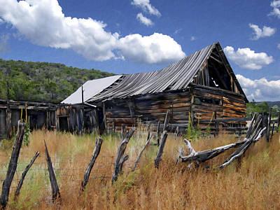 Old Barns Digital Art - Old Barn Las Trampas New Mexico by Kurt Van Wagner