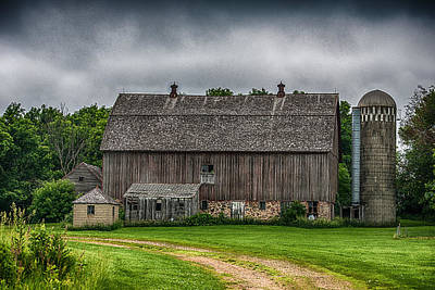 Old Barn On A Stormy Day Print by Paul Freidlund
