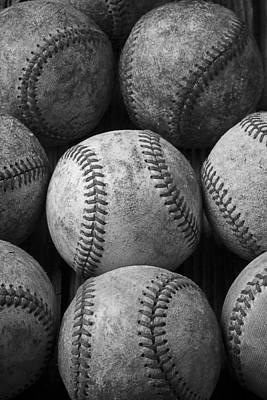 Baseball Art Photograph - Old Baseballs by Garry Gay