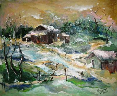 Old Bethpage Village Restoration Print by Mary Spyridon Thompson