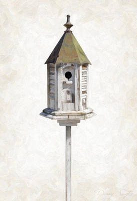 Old Objects Painting - Old Birdhouse by Danny Smythe