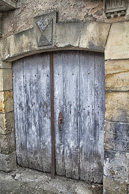 Old Blue Door In South-west France Print by Georgia Fowler