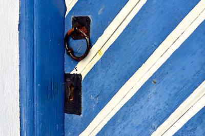 Old Blue Door In Sweden Original by Toppart Sweden