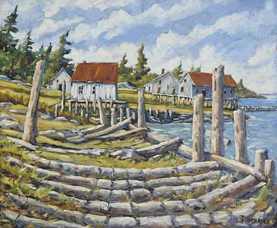 Old Boat Ramp Maine By Prankearts Print by Richard T Pranke