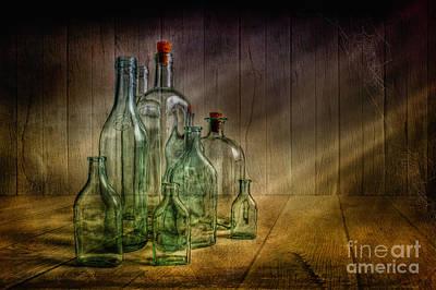 Old Bottles Print by Veikko Suikkanen