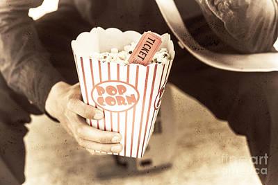 Old Box Of Retro Popcorn Print by Ryan Jorgensen