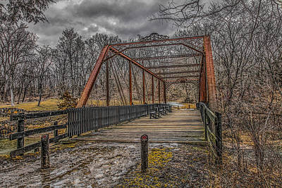 Muscatine Photograph - Old Bridge by Ray Congrove