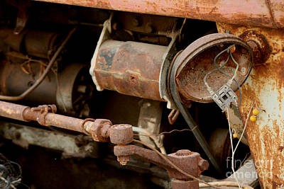 Financial Mixed Media - Old Broken Tractor by Doc Braham