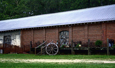 Old Building  Print by Debra Forand