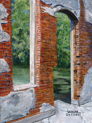 Old Building In Pleasant Hill Louisiana Print by Lenora  De Lude