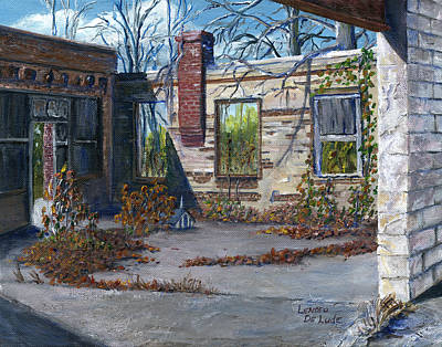 Stonewall Painting - Old Building In Stonewall Louisiana  by Lenora  De Lude