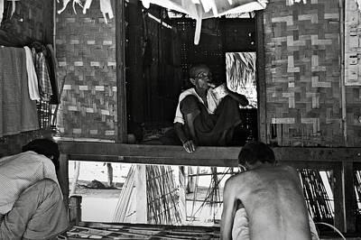 Bamboo House Photograph - Old Burmese Smoker Woman by RicardMN Photography
