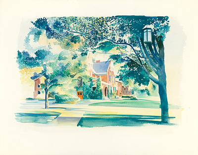 Michigan State Painting - Old Michigan State University Botany Building by Robert Brent