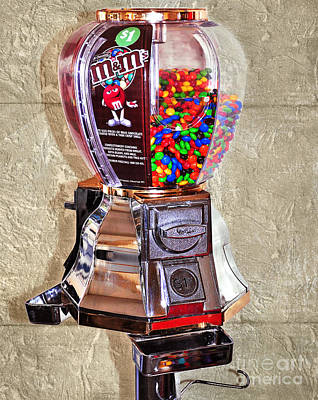 Candy Digital Art - Old Candy Dispenser - New Candy 2 by Kaye Menner