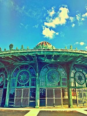 Asbury Park Old Carousel House Print by Eleanor Abramson