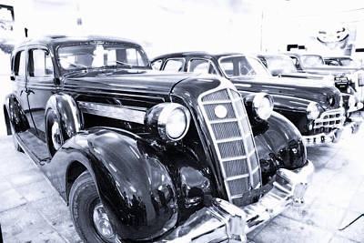 Gaz Photograph - Old Cars In Museums Mosfilm  by Lali Kacharava