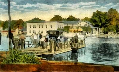 Old Chain Ferry Saugatuck Michigan Print by Michelle Calkins