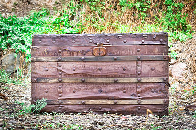 Treasure Box Photograph - Old Chest by Tom Gowanlock