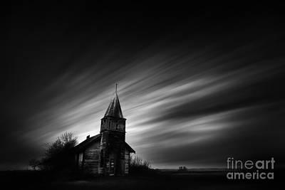 Alberta Prairie Landscape Photograph - Old Church by Dan Jurak