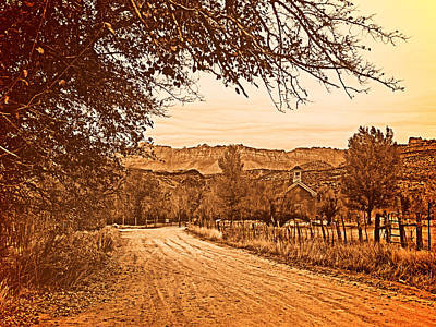 Old West Photograph - Old Church by Leland D Howard