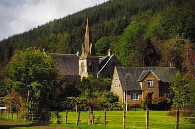 Old Church. Scotland Print by Jenny Rainbow