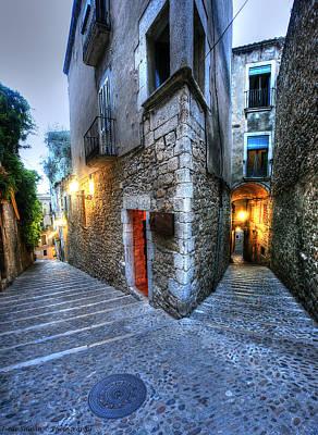 Old City Girona Print by Isaac Silman