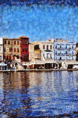 Reflections Painting - Old City Of Chania by George Atsametakis