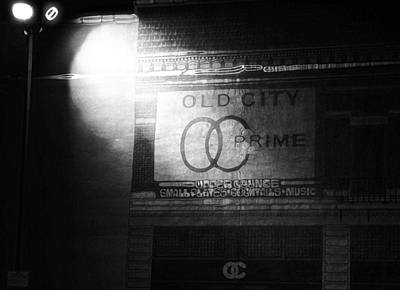 Prime Mixed Media - Old City Prime Restaurant At Night by Dan Sproul