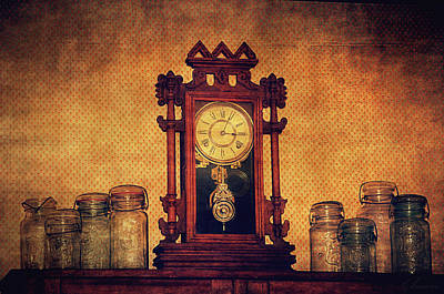 Glass Wall Digital Art - Old Clock by Maria Angelica Maira
