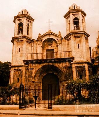 Old Colonial Church In Varadero Cuba Print by John Malone