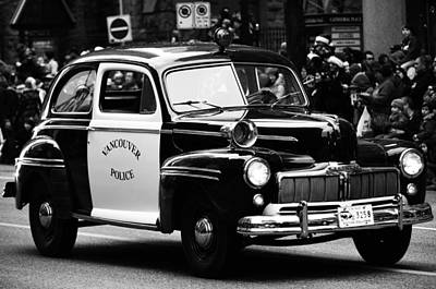 Old Cop Car Print by JC Photography and Art