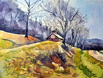 Mississippi River Painting - Old Country Barn by Spencer Meagher