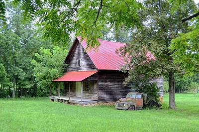 Old Country Cabin Print by Bob Jackson