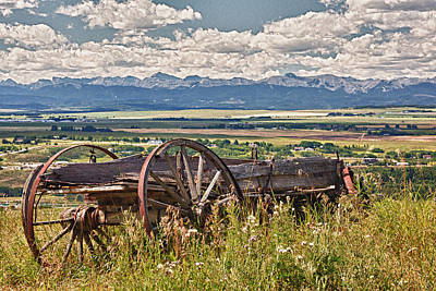 Old Country Wagon Mountains Print by Rob Moses