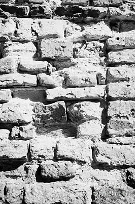 Old Jewish Area Photograph - Old Crumbling Red Bricks In Building In Kazimierz Krakow by Joe Fox