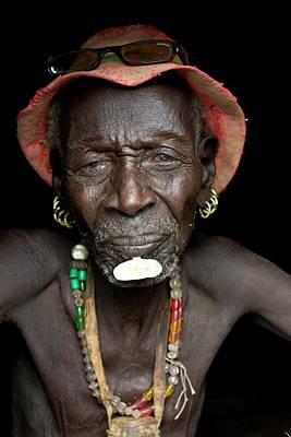 African People Photograph - Old Dassenech Tribesman With Cataracts by Tony Camacho