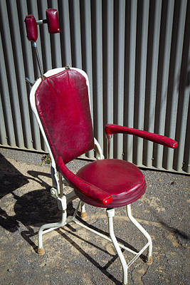 Old Dentist Chair Print by Garry Gay